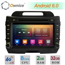 "Octa core 2 ГБ Оперативная память 32 ГБ Встроенная память 8 ""4 г WI-FI Android 6.0 dab BT автомобиля DVD Радио стерео-плеер для Kia Sportage R 2011-2015 GPS навигации"