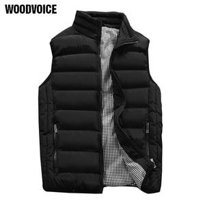 Image 5 - Male Cotton Vest Autumn and Winter Male Vest Couple Solid Color Thickening Vest Men Sleeveless Vest Jacket Waistcoat Large Size
