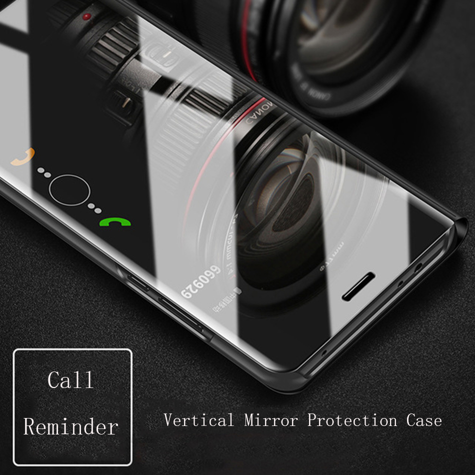 Smart Mirror Flip Case For Samsung Galaxy S8 S9 Plus S7 Edge S6 Note 9 8 5 A3 J7 J5 2016 A6 A8 J4 J8 J6 2018 A3 A5 2017 Cover in Fitted Cases from Cellphones Telecommunications