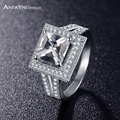 ANFASNI Latest Stlye Fashion Unisex Punk Rings AAA Cubic Zircon Square Finger Rings CRI0263-B