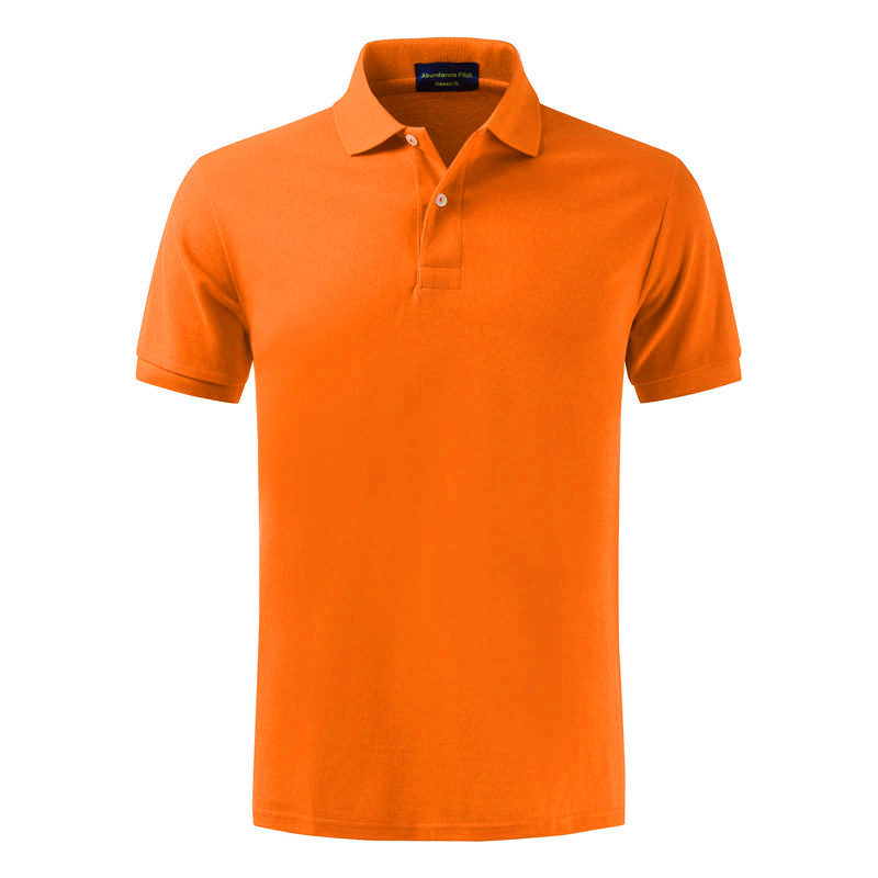 High quality summer new style men's pure color short-sleeved Contton   Polo   100%cotton lovers leisure elastic cotton