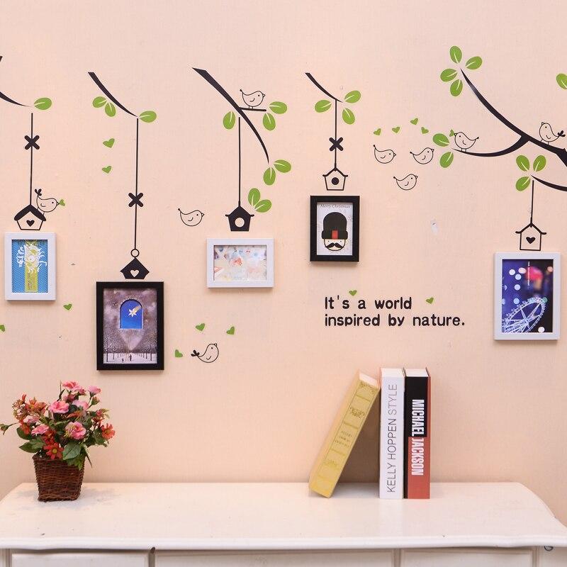 Tienda Online Blanco negro 5 unids/set Collage marco de fotos, pared ...