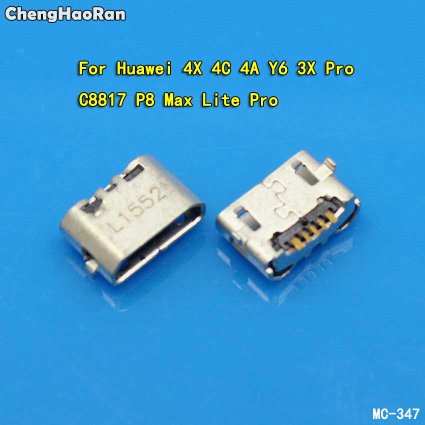 ChengHaoRan Micro USB 5pin Jack Reverse Ox Horn Charging Port Plug Socket Connector For Huawei 4X Y6 4A 4C C8817 P8 Max Lite Pro