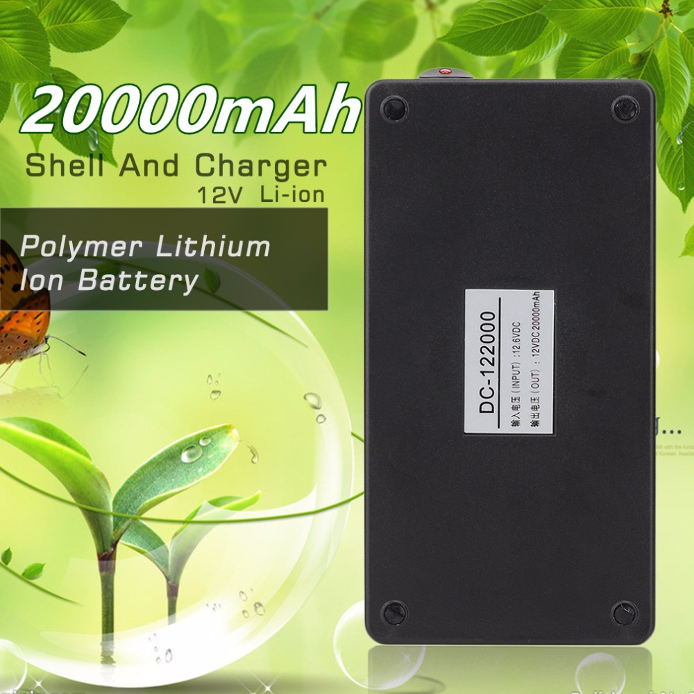 Big Capacity 20000mA Super Polymer Lithium Ion Battery 12V Black Plastic Shell Battery Universal With EU/US Charger promotion 30a 3s polymer lithium battery cell charger protection board pcb 18650 li ion lithium battery charging module 12 8 16v