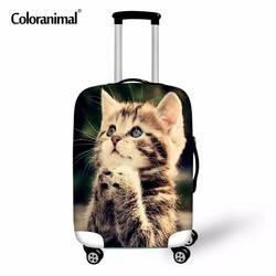Coloranimal толще путешествия Чемодан чемодан защитная крышка для 18-30 дюймов Портативный эластичный стрейч пыле Дождь случае Чехлы для мангала