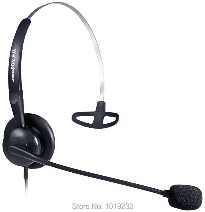 US $13 29 30% OFF|Free shipping RJ9/RJ10/ RJ12 plug headset headset Noise  canceling microphone phone headset call center headphones office headset-in