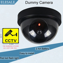 Black Plastic Housing Fake Camera Two AA Battery LED Dummy Security Camera Ir Led Dome CCTV Camera Surveillance Camera ELESALE