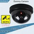 Carcasa De Plástico negro Cámara Falsa Dos AA Batería LED Dummy Cámaras de Seguridad del Ir Led de la Bóveda del CCTV cámara de Vigilancia Cámara ELESALE