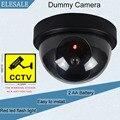 Plástico preto Habitação Camera Falsa Dois Bateria AA LEVOU Câmera Ir Led Segurança Dummy Dome CCTV Câmera de Vigilância Câmera ELESALE