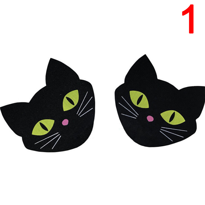2 Pairs sticker Black Cat Shape Milk Paste Sexy Paste Breast Bra Nipple Cover Adhesive erotic Sex Stickers Intimates Accessories