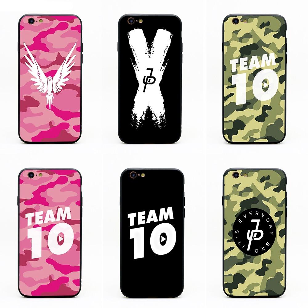 maverick logo of jake paul phone cases TPU+PC Black covers for iPhone X 6 7 8 plus 5 5s  ...