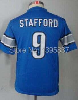 #9 Matthew Stafford Jersey,Youth/Kids Football Jersey,Best quality,Authentic Jersey,Size S--XL,Accept Mix order