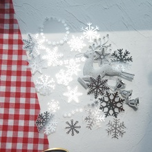 38pcs Silver Winter Snow Style Paper Sticker Scrapbooking DIY Gift Packing Label Decoration Tag