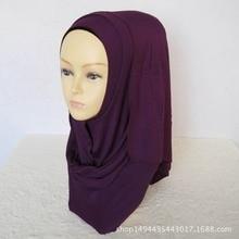 32 цвета высокого качества Джерси-шарф трикотажная шаль мусульманский хиджаб шарф Макси сплошной хиджаб шарф 170*50 см