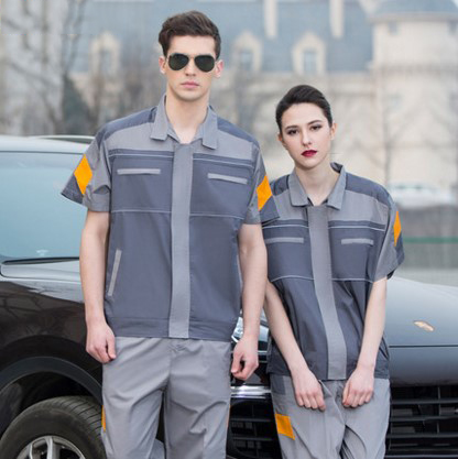 цены Set of Coat+Pants short sleeve car beauty saloon uniform auto repair coat short sleeve car service uniform