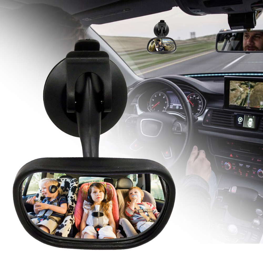 Car Safety Rear Convex Mirror Baby Easy View Back Seat Ward Guard Facing Child Babies Kids Monitor Adjustable Sucker Car Styling