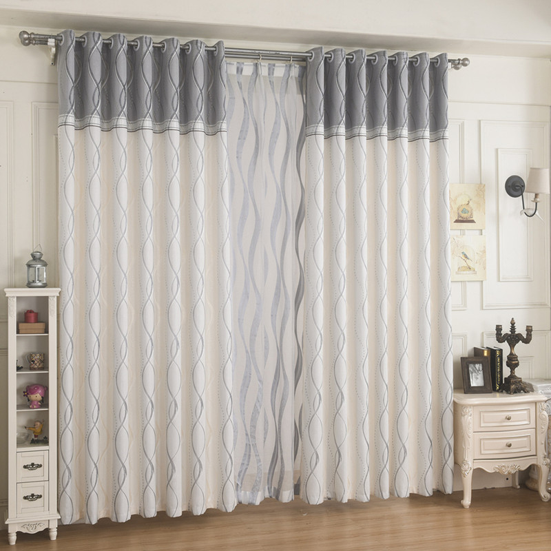 {Byetee} Window Kitchen Curtains For Bedroom Living Room Ready Made Curtains  Modern Sheer Curtain Grey Stripe Curtains Drapes In Curtains From Home U0026  Garden ... Part 93