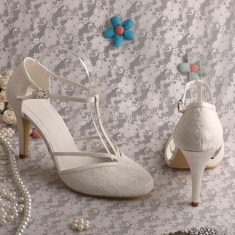 afd8c2afa78 Wedopus MG3011 T strap Closed Toe Women s Black Lace High Heel Shoes ...