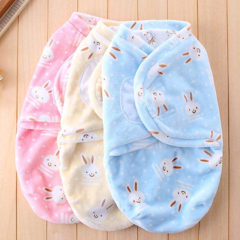 New Baby Receiving Blankets Cotton Newborn Wrap Blanket Warm Soft Sleeping Bag Cartoon Flannel Receiving Blanket For Boys Girls (1)