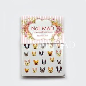Image 5 - 22 stks Cartoon Katten Nail Water Decals Boxer Honden Nail Art Tattoo Decals Kitten Water Slide Nail Stickers Manicure Decoratie