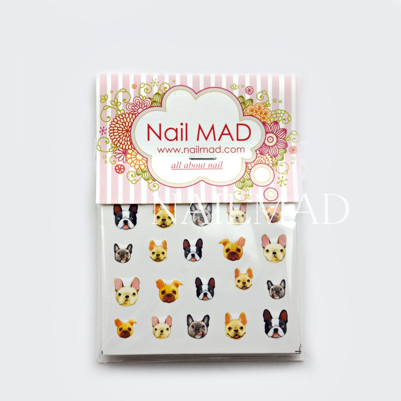 Image 5 - 22pcs Cartoon Cats Nail Water Decals Boxer Dogs Nail Art Tattoo Decals Kitten Water Slide Nail Stickers Manicure Decoration-in Stickers & Decals from Beauty & Health