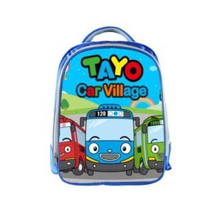 Image 4 - Tayo ônibus azul sacos de escola para adolescentes carros dos desenhos animados 13 polegada impressão 3d meninos meninas crianças mochila crianças escola saco