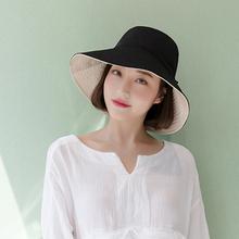 Leisure Cotton Comfortable Double-side Hat Sunshade Sunscreen Bow Women Men Fisherman