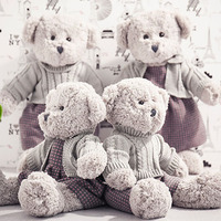 Hot 1pc 45CM Kawaii Teddy Bear Plush Toy Cute Stuffed Couple Bears Soft Kids Toys Baby Huggable Doll Children Girls Gifts