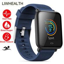 a7a58ba41b7 Cor fino Nadar Esporte Freqüência Cardíaca Aptidão de Saúde Smartwatch  Bluetooth Relógio Inteligente Fit Para Apple Sony Huawei .