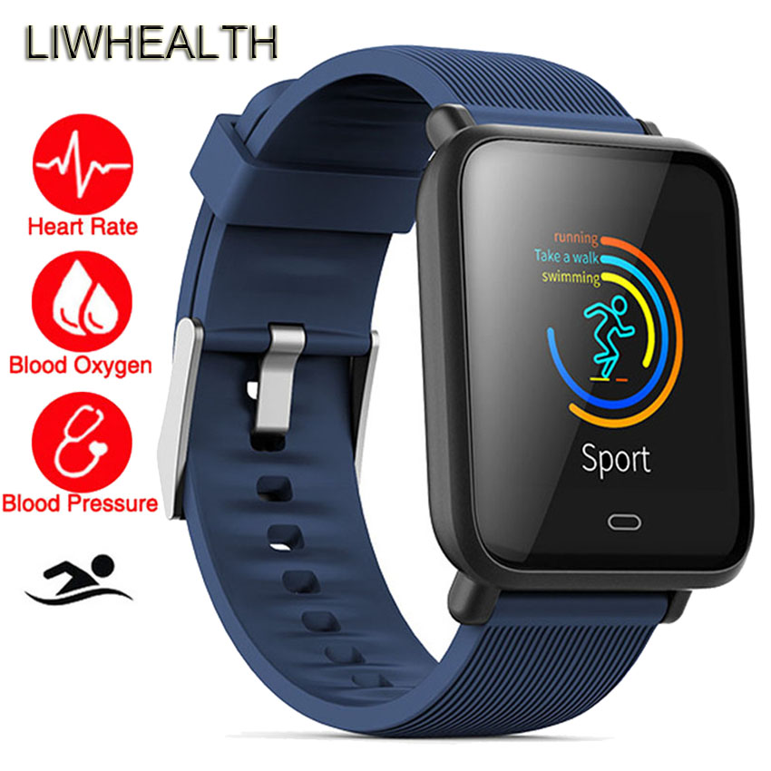 Slim Color Bluetooth Smart Watch Swim Sport Heart Rate Health Fitness Smartwatch Fit For Apple/Sony/Huawei PK Q8/SW007 Men/Women