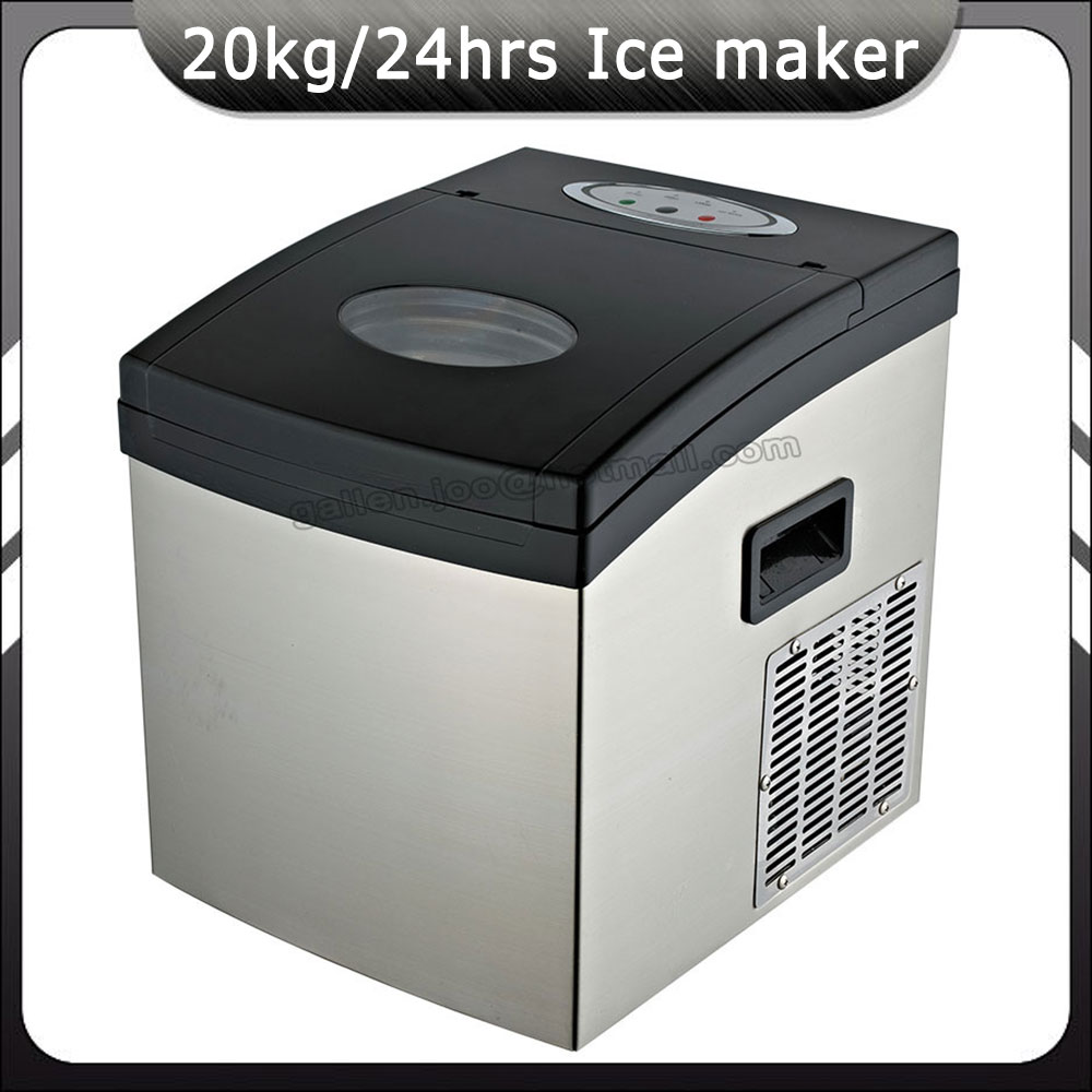 Zb 02 ice production 20kg 24h bullet ice maker cube for Ice makers for sale