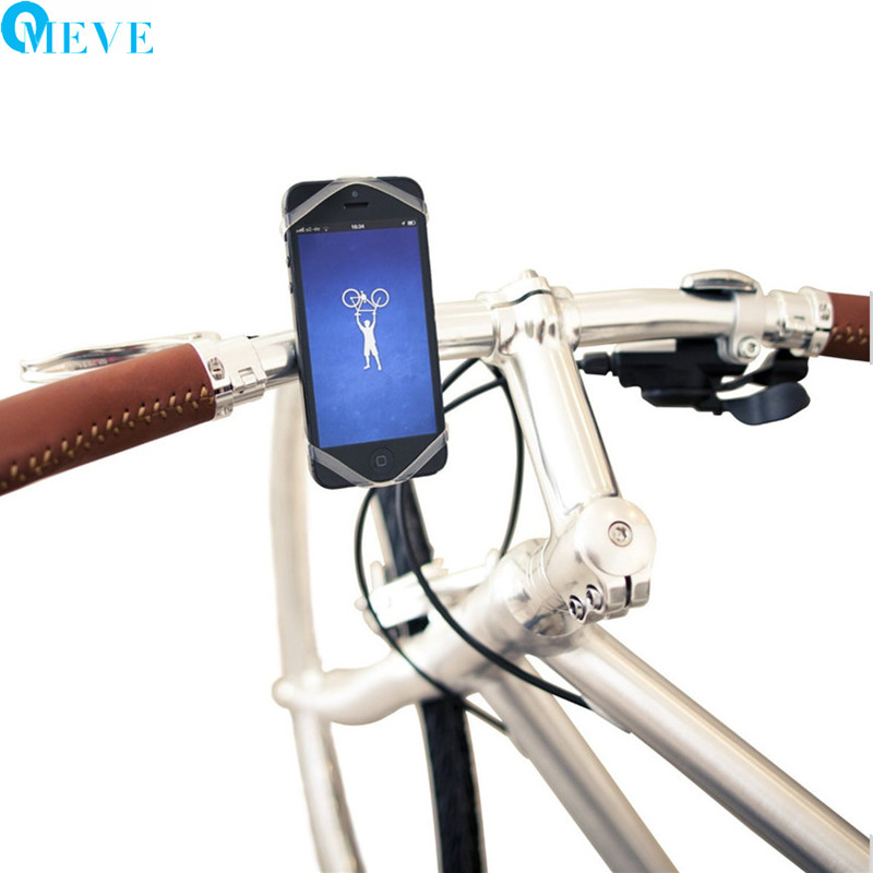 Iphone Bike Mount >> Universal Silicon Smartphone Bike Mount Cell Phone Holder Fits For