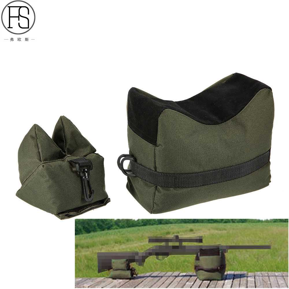 Sniper Shooting Bag Gun Front Rear Bag Target Stand Rifle Support Sandbag Bench Unfilled Outdoor Hunting Gear Rifle Rest Pouch