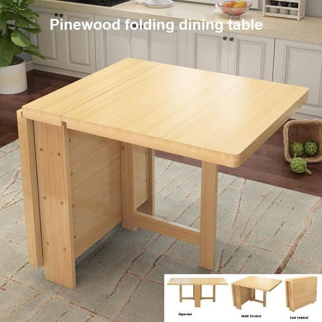 Mesa plegable de pino pequeño apartamento simple moderno plegable ...