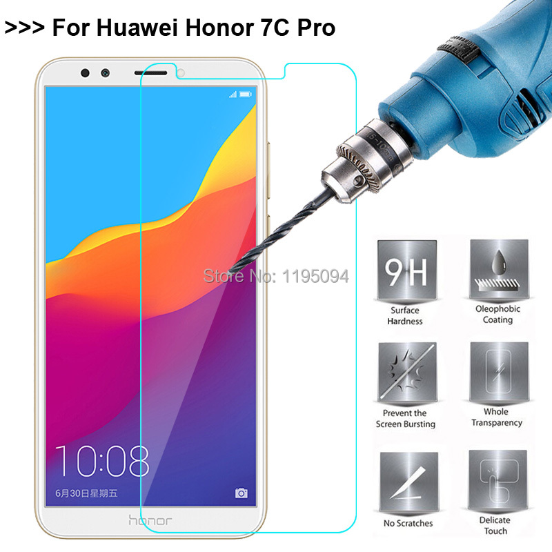 2.5D 9H Ultra-thin Tempered Glass For Huawei Honor 7C Pro 5.99 Screen Protector Toughened Glass Protective Film