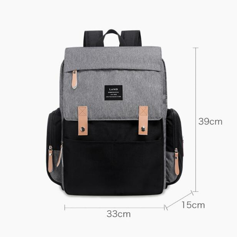 HTB1a1lDO9zqK1RjSZFLq6An2XXac Authentic LAND Mommy Diaper Bags Mother Large Capacity Travel Nappy Backpacks with anti-loss zipper Baby Nursing Bags NEW