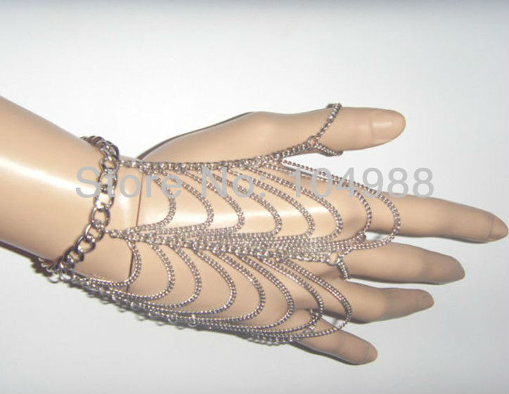New arrival Europe Women hand chains body chain Metal Bracelet Wrist Multilayer Finger Chain Summer Jewelry