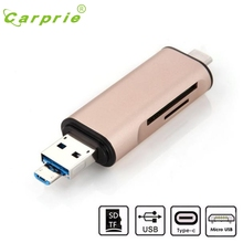 "CARPRIE 3in1 USB $ number + Adaptador de Lector de Tarjetas USB 3.1 Tipo C TF MS Para 12 ""Macbook Mar8 MotherLander"