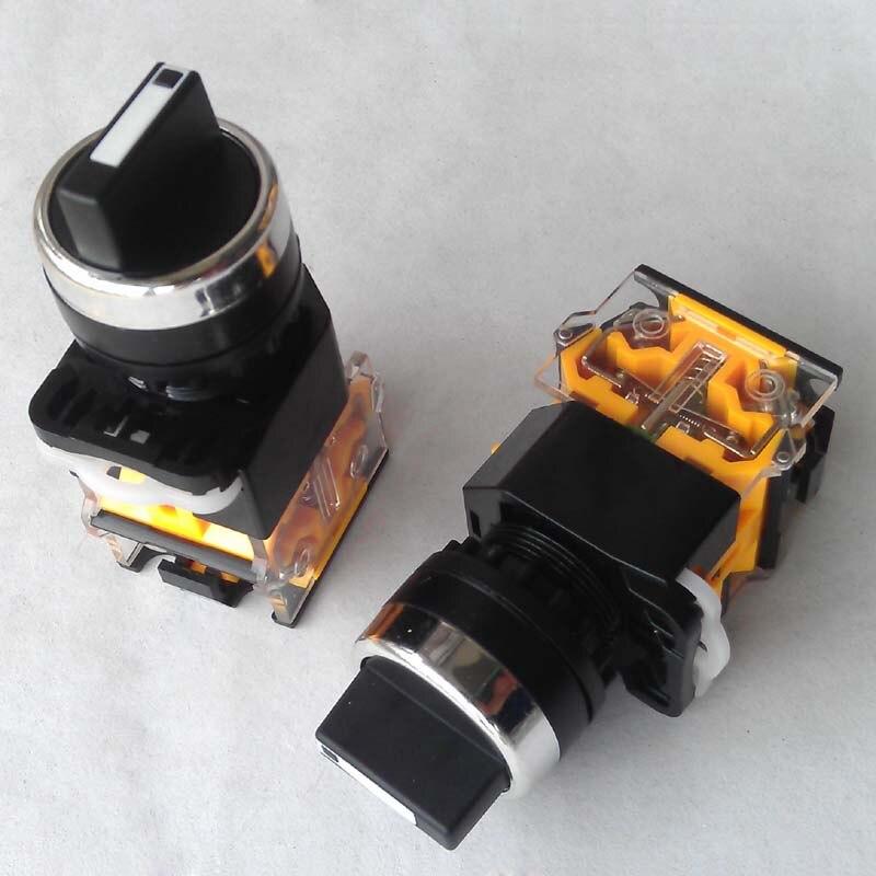 3/2 Position 22mm cou commutateur rotatif 1 PAS 1 NC ou 2NO 2NC