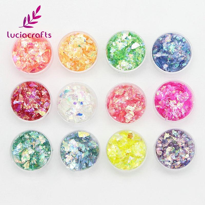 Lucia crafts Multi options Plastic Irregular shape Colorful loose Sequins DIY Manicure Flakes Nail Art Decor confetti 043007020