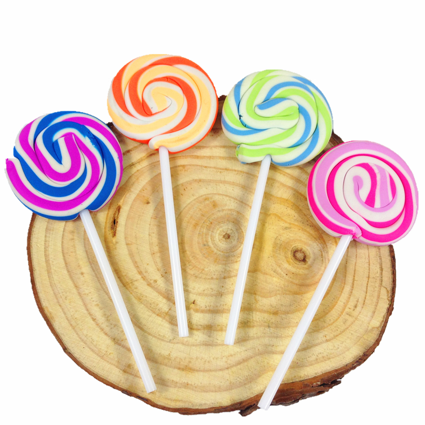 30 шт./лот Новинка ластик в виде леденца конфеты Забавный резиновый ластик для офиса и учебы подарки для детей