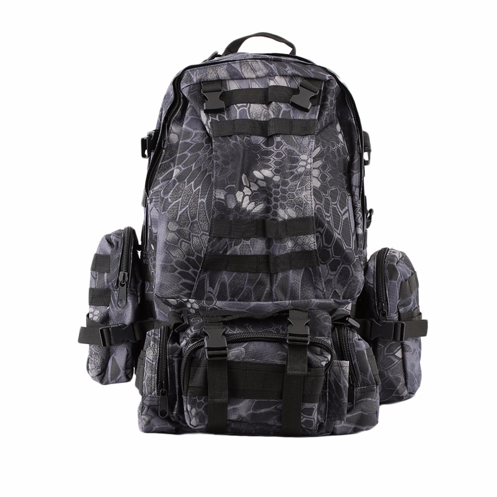 (Ship From US) 55L Tactical Military Assault Backpack Pack Large Waterproof Bag Rucksack Sport Outdoor Bag For Hunting Camping lqarmy 3 day expandable backpack with waist pack large rucksack tactical backpack molle assault bag for day hiking tan