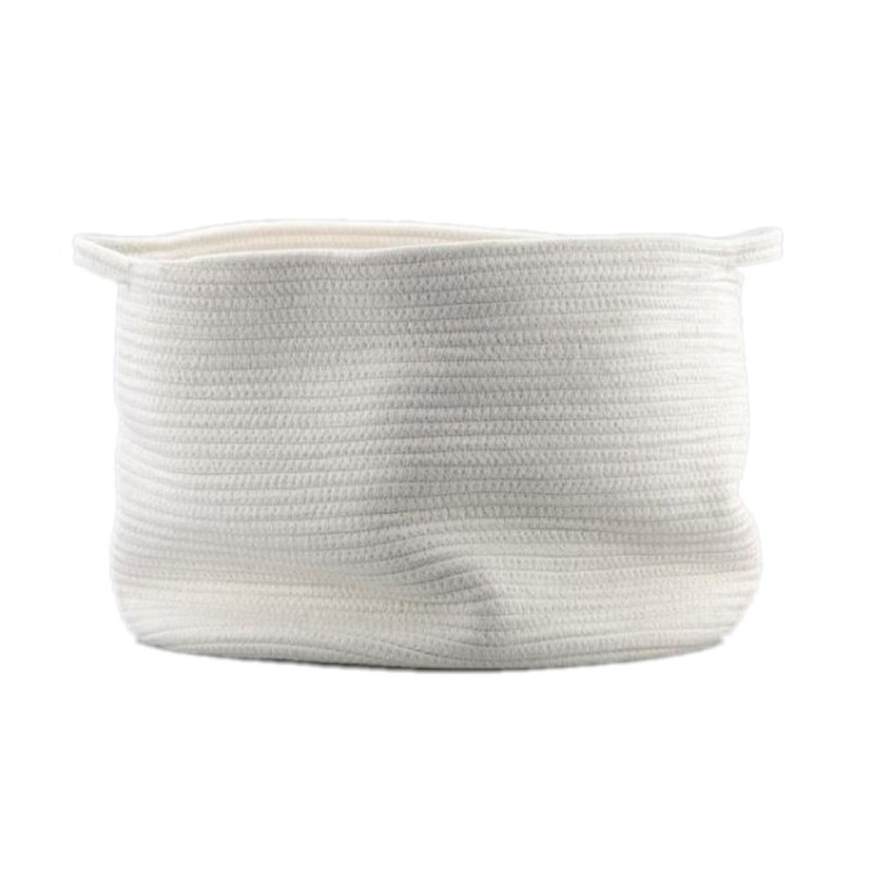 Large Cotton Rope Storage Baskets With