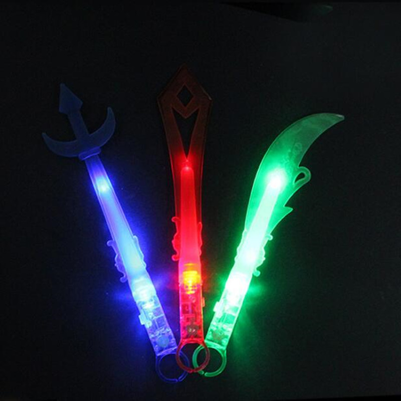 2018 LED Flashing Knife Sword Finger Light Blinking Weapon Finger Torch Light Adults Glow Party Supplies Wedding Decoration