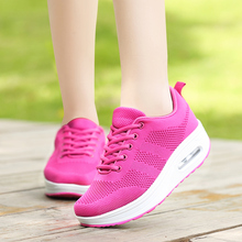 Women Walking Shoes Height Increasing Summer Sport Shoes For Girls Pink Purple Shoes Sport Woman Trainers Walking Sneakers crocodile summer women height beach sneakers outdoor soft walking shoes women leisure sandals femme light cushion sport shoes