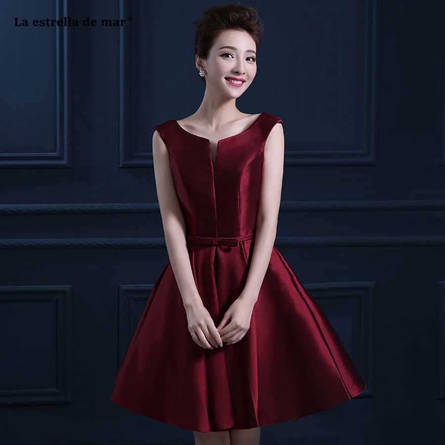 vestido madrinha hot sexy N neck satin A Line burgundy turquoise gold royal  blue purple bridesmaid bf153c27f455