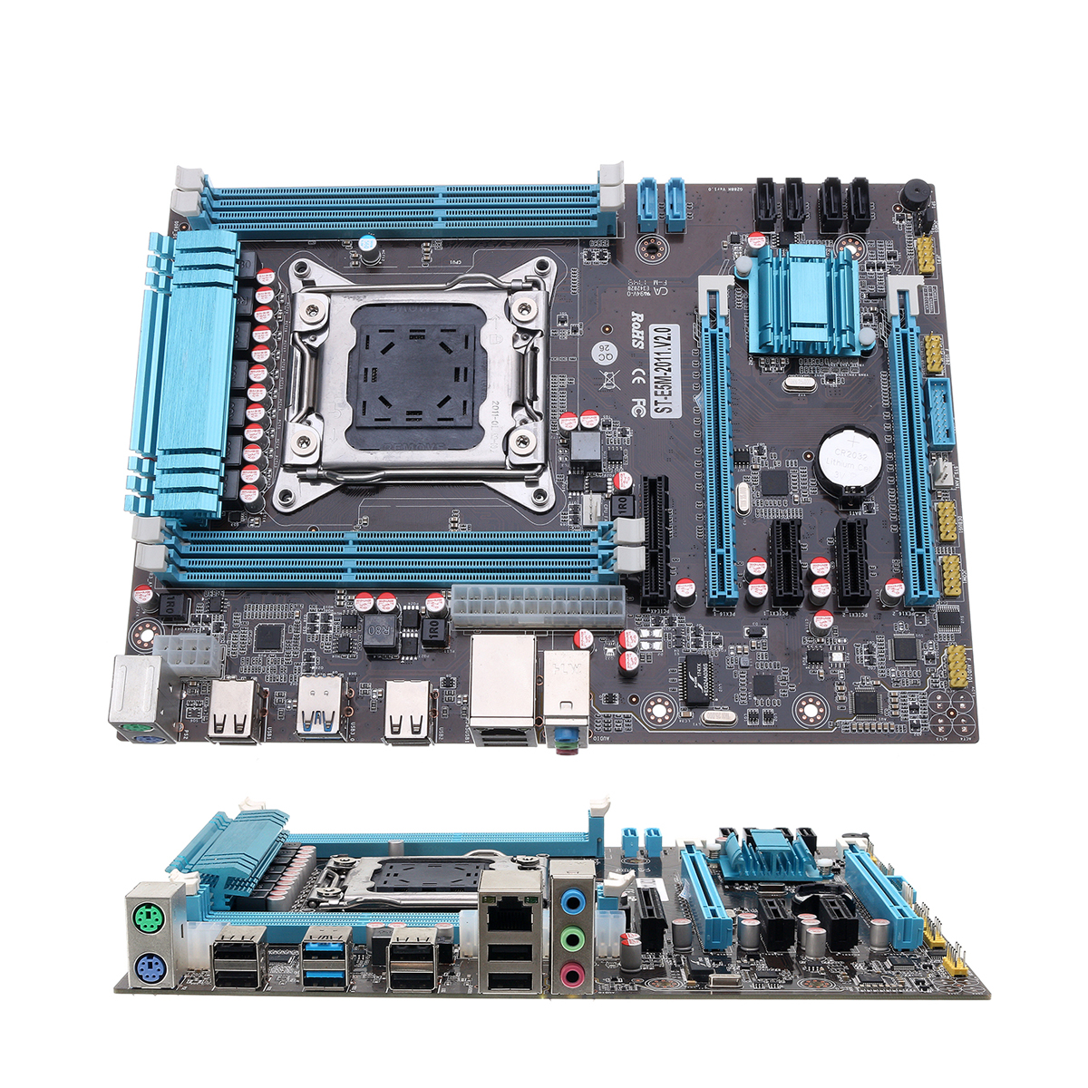 LEORY X79 Computer PC Gaming Mainboard Use Desktop Motherboard ATX For Intel X79 LGA 2011 DDR3 Support For i7/E5 with SATA Cable intel g45 atx lga 775 ddr3 computer motherboard blue silver