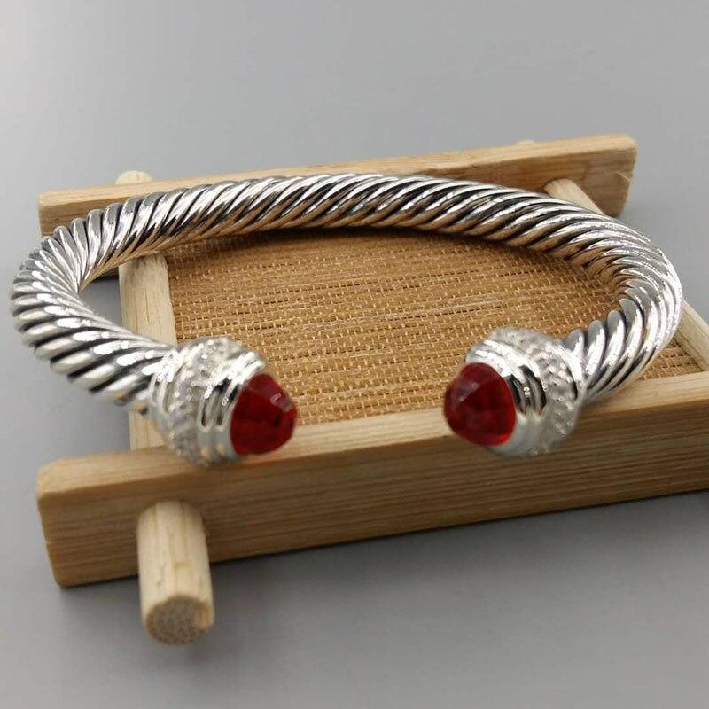 925 bijoux en argent Bracelet de câble avec or 7mm Morganite perle noir Onyx grenat Rose Quartz Prasiolite Bracelet de câble