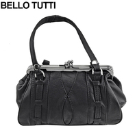 BELLO TUTTI Genuine Leather Handbag Sheepskin Coin Purse Band Metal Farme Card Holder Coin Wallets Women Change Purse