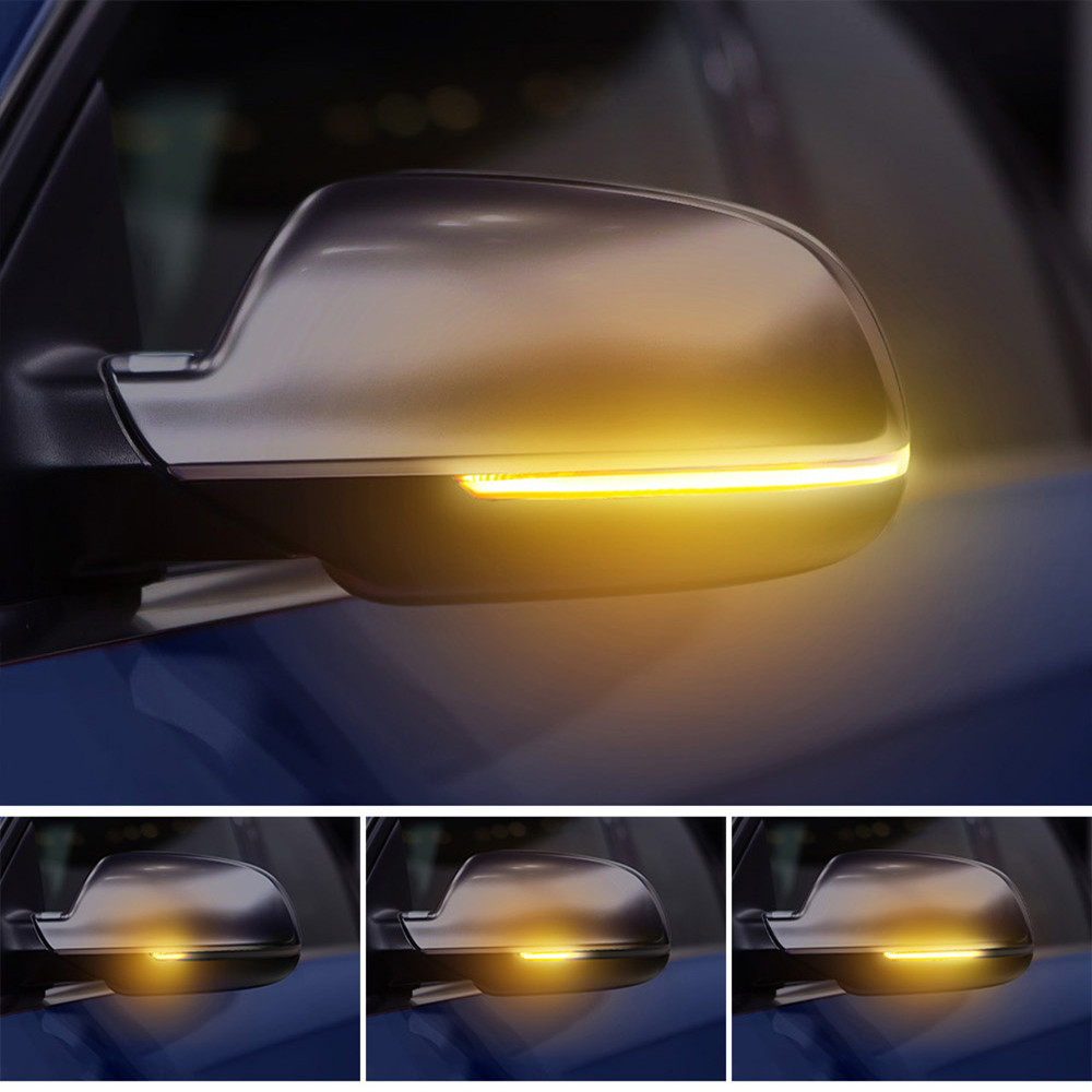 2 pieces LED Dynamic Turn Signal Light For Audi A6 C7 C7.5 RS6 S6 4G 2012-2018 Car Side Wing Rearview Mirror Blinker Indicator